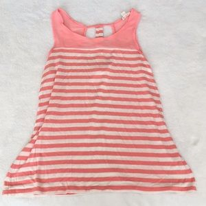 Coral & White Striped Zenana Outfitters Tank